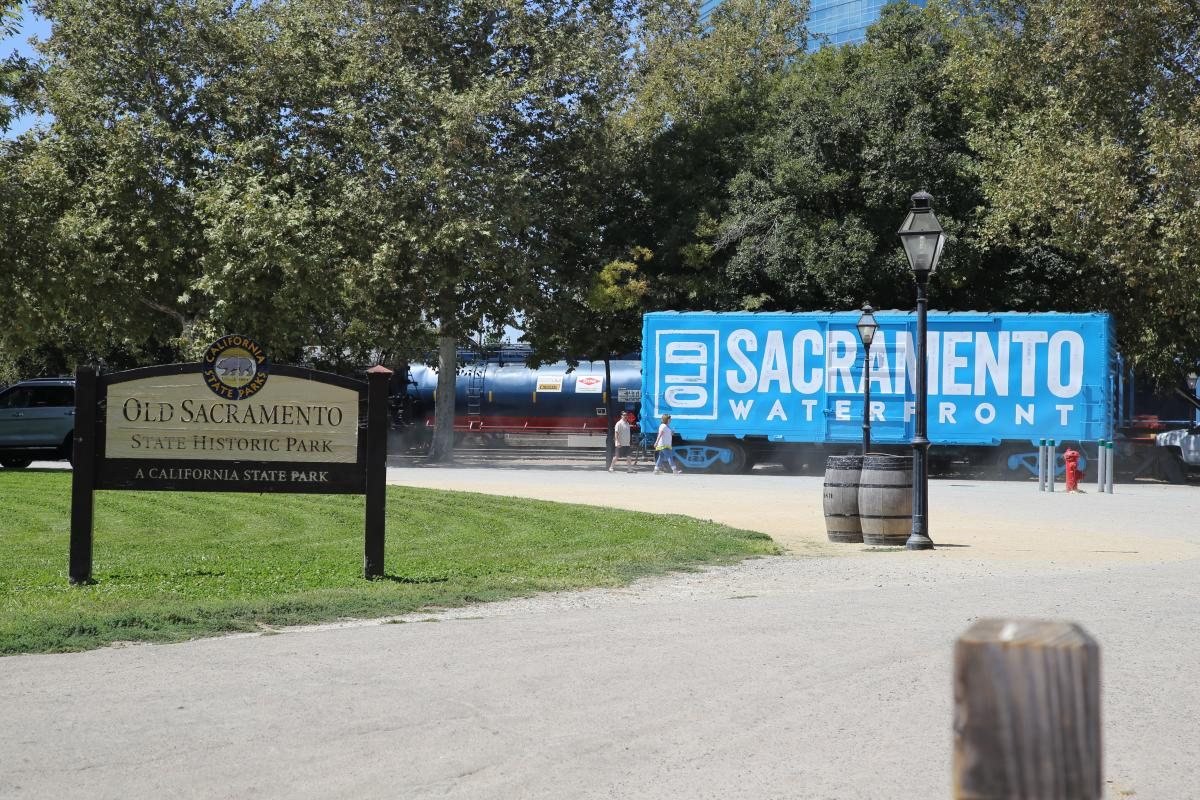 Old Sacramento Waterfront Boxcar
