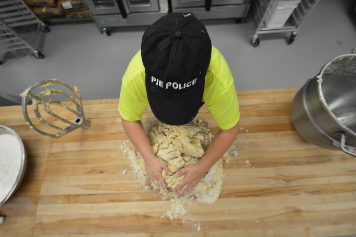 Judy Pie - pie making
