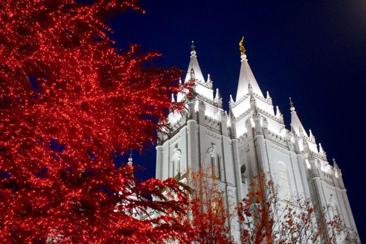 During the holidays, close to a million lights brighten Temple Square