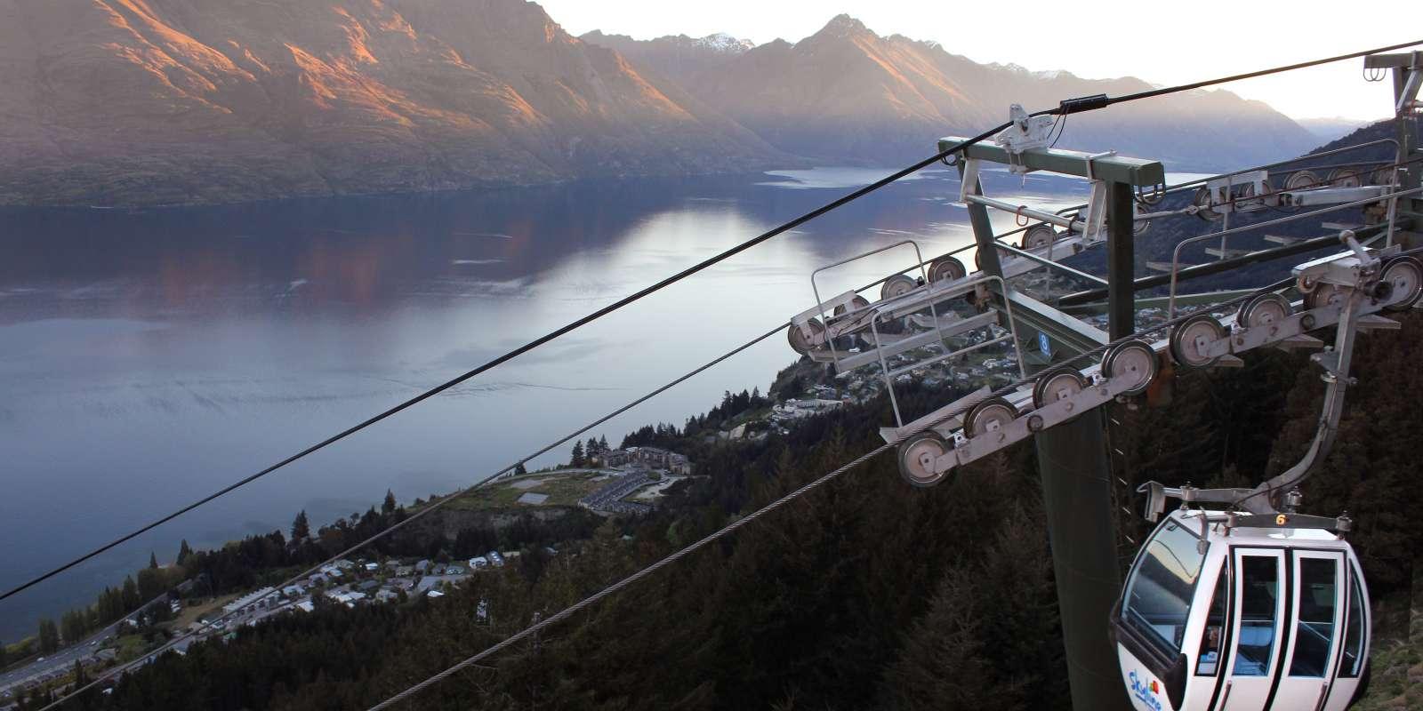The Skyline Gondola at sunset