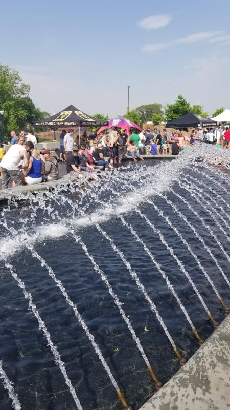 Carroll Creek Park Fountain & Frederick Craft Beer Festival