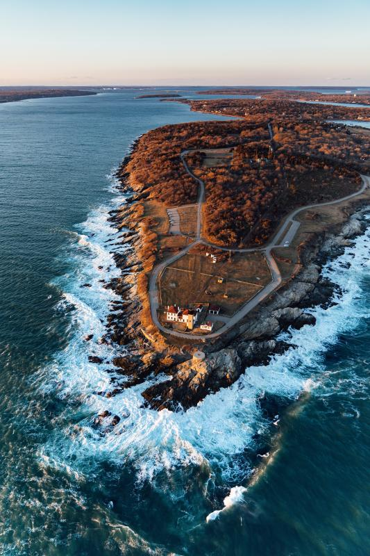 Beavertail State Park Jamestown Aerial