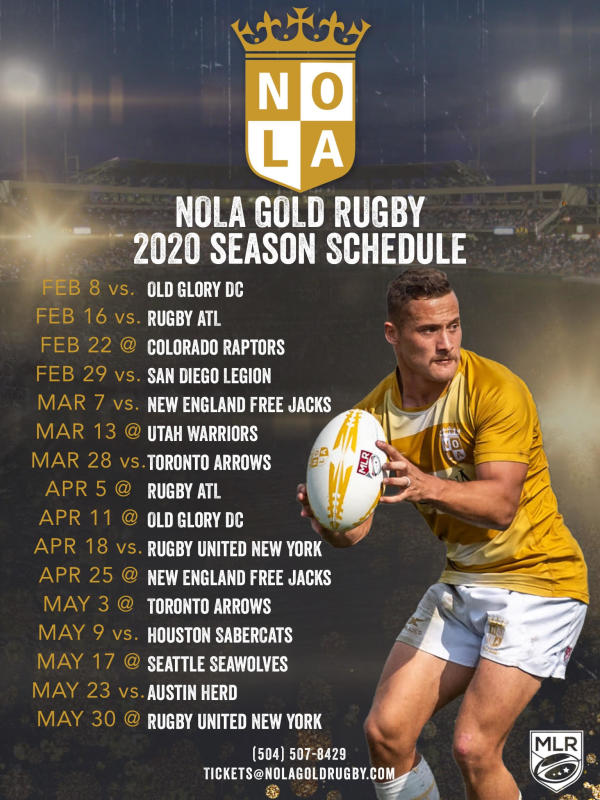 2020 Nola Gold Schedule