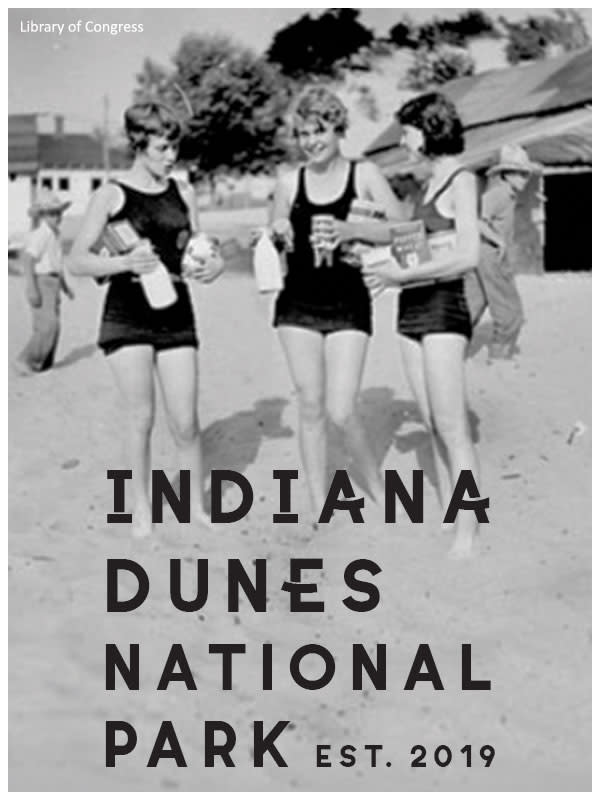 Vintage Indiana Dunes bathers