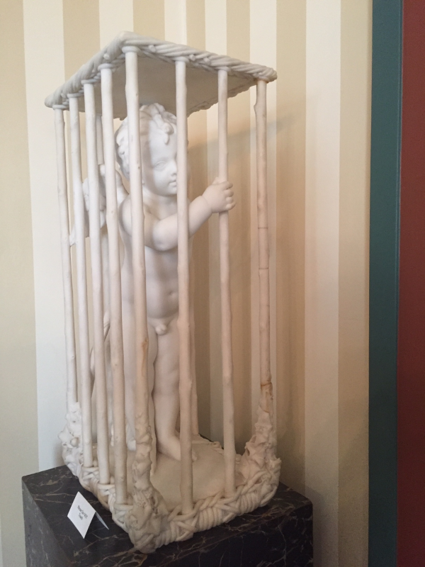 Marble statue at Latimer House