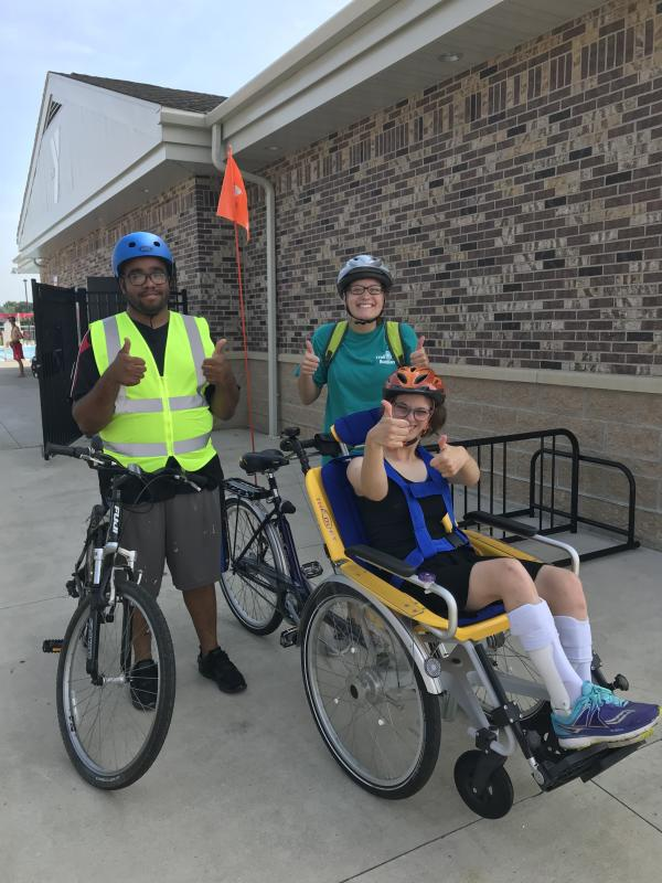 Adaptive Trail Ride at Jorgenson Family YMCA with Trail Buddies Program