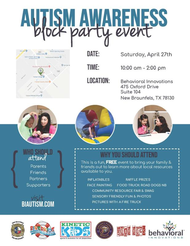 Autism Awareness Block Party