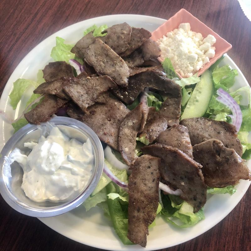 Gyro salad at Mediterranean Grill