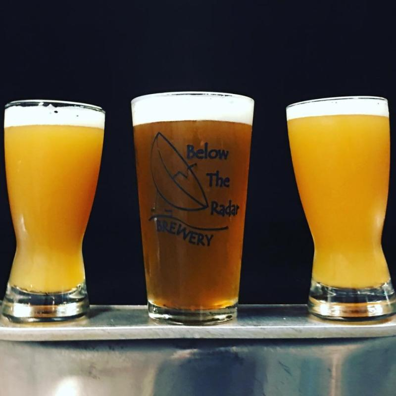 3 glasses of beer from Below the Radar Brewing Company in Huntsville, AL
