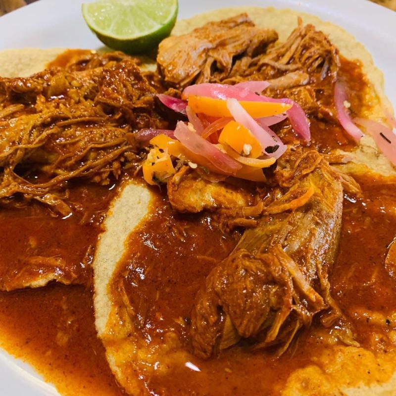 El Huarache Azteca Taco Plate Photo