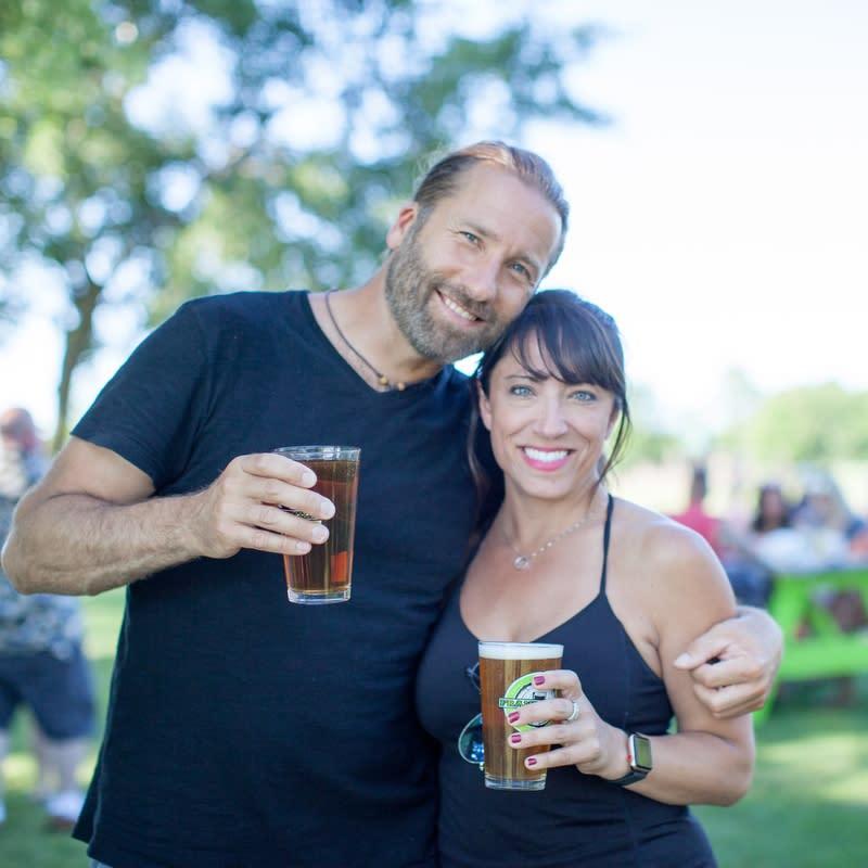 Franksville Beer Garden Couple