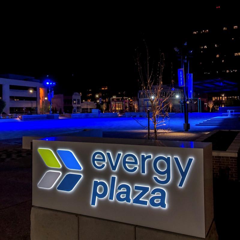 evergy plaza night