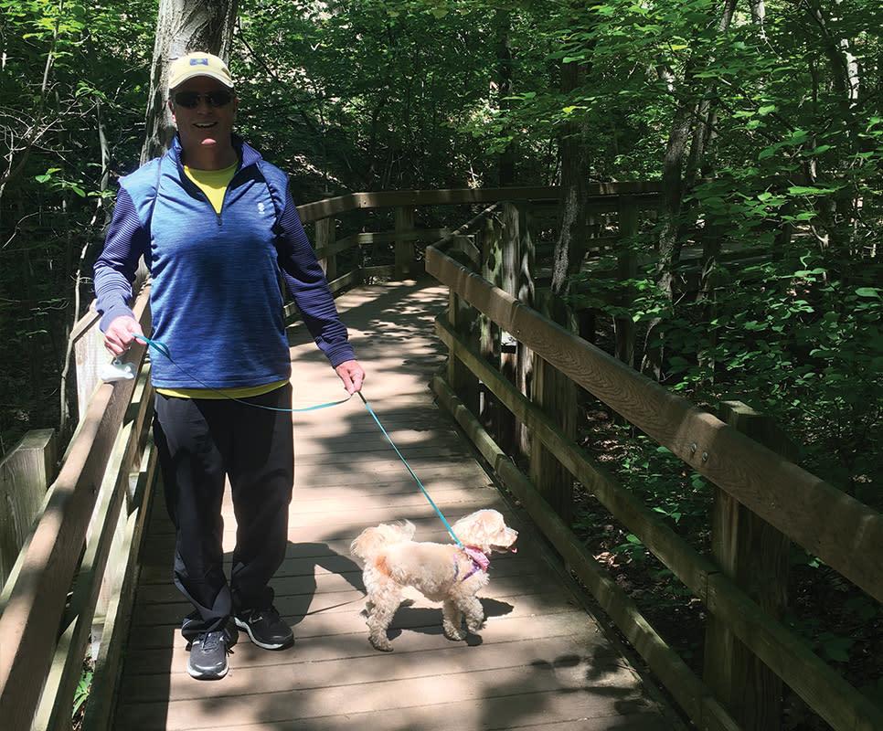 Haley Collins Succession Trail dog