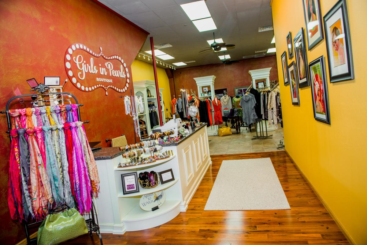 Girls in Pearls Boutique is a perfect shop for finding unusual and beautiful items.