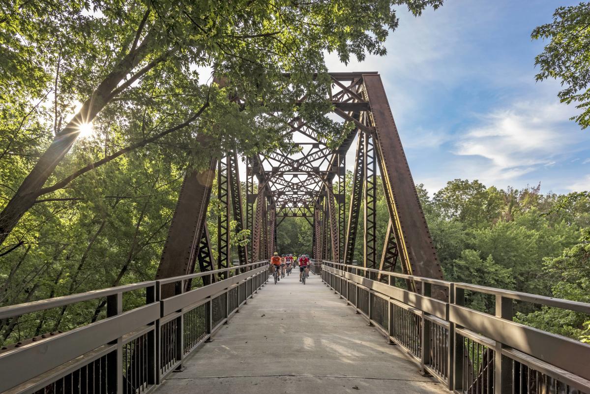 Biking the Flint Hills Trail State Park