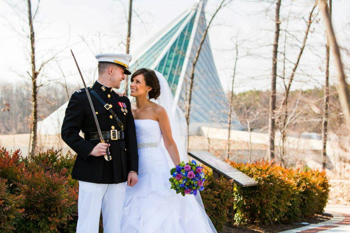 marine corps museum wedding