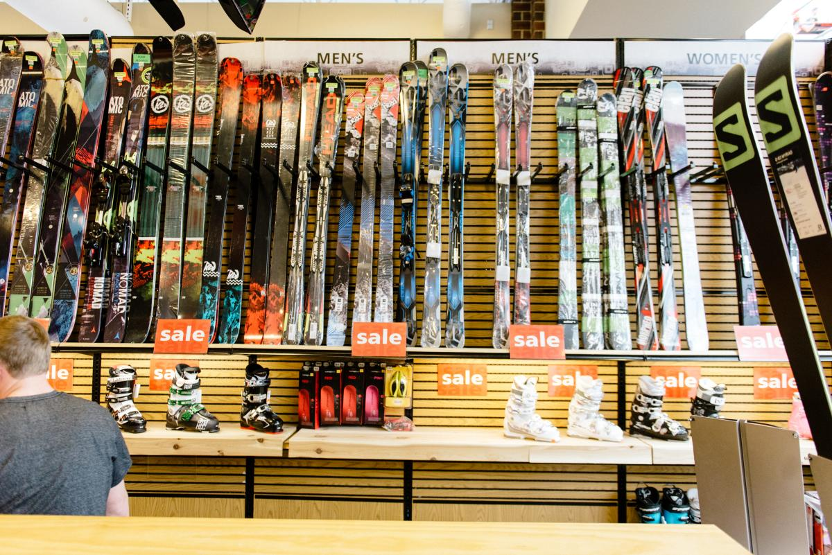 Rental shops have options for every skier.