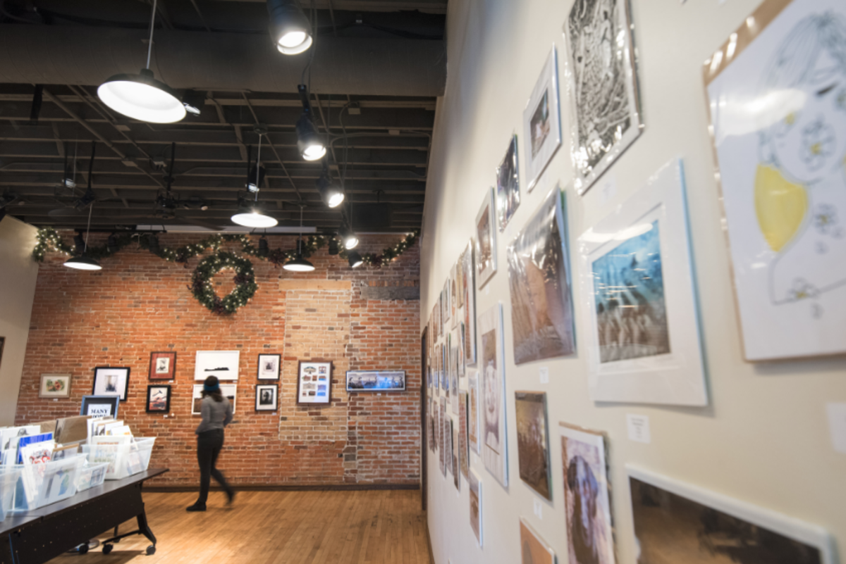 An art gallery at the Local Store in downtown Eau Claire