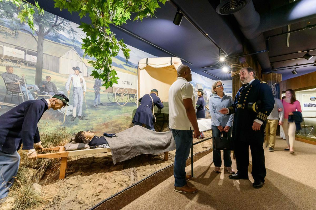 Visitors at the National Museum of Civil War Medicine