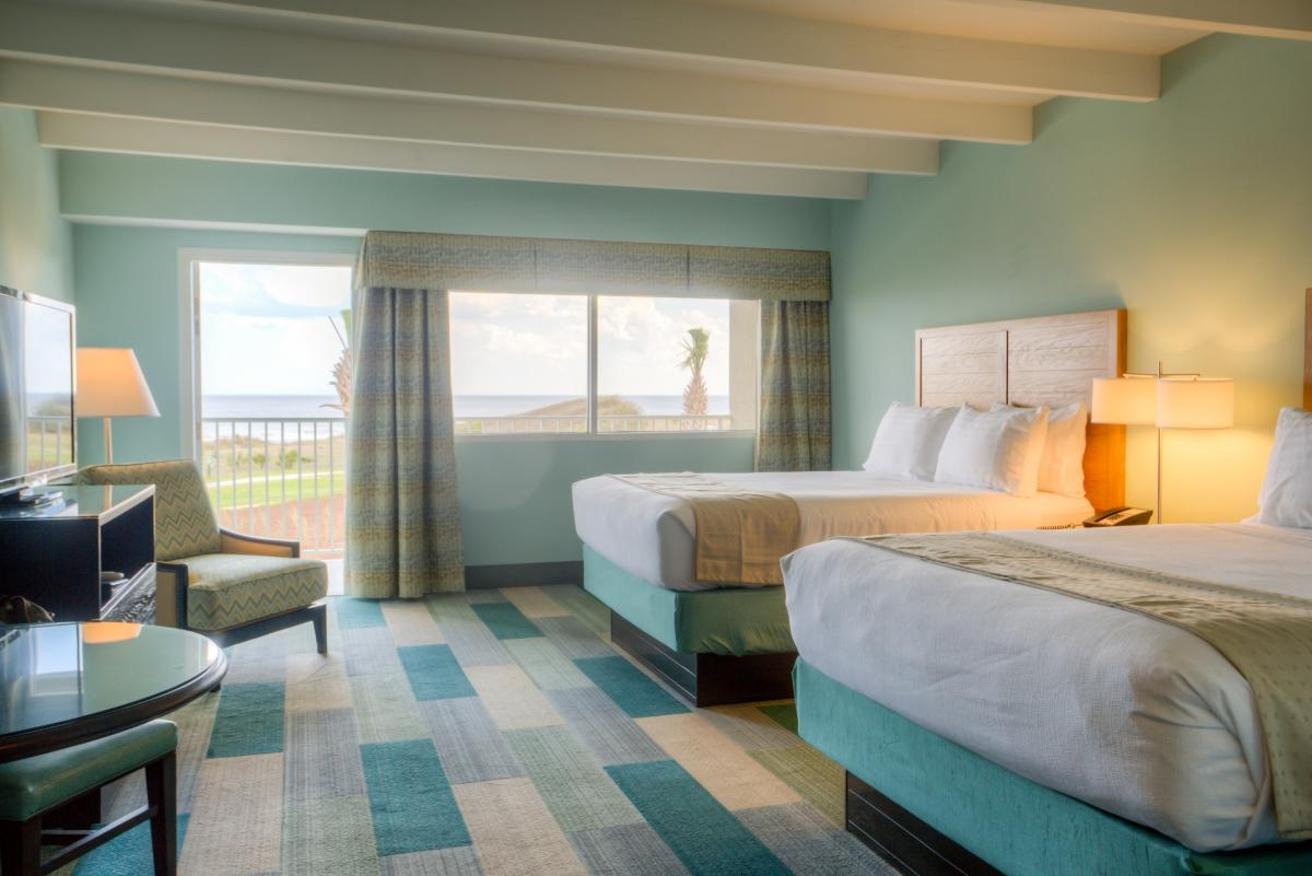 Most guest room at the Holiday Inn Resort on Jekyll Island feature ocean views