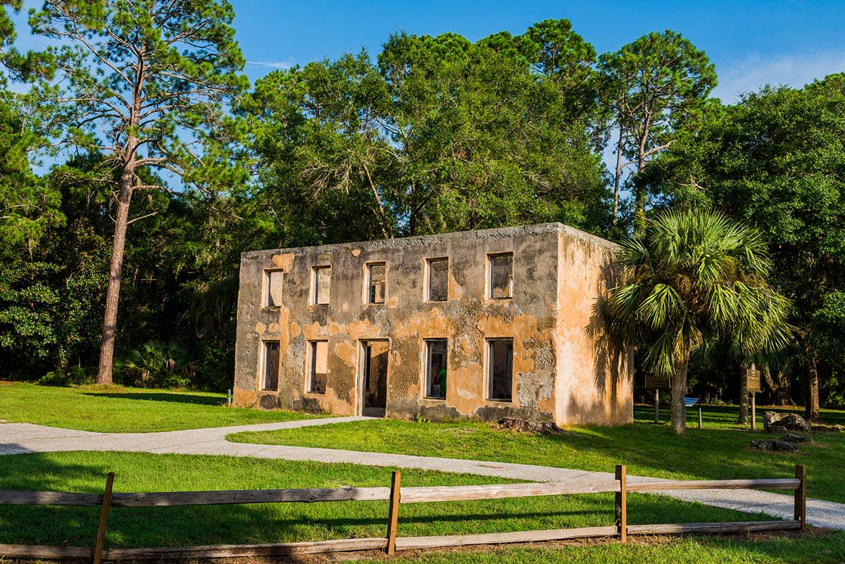 The historic Horton House ruins are made of original tabby and can be found on Jekyll Island, GA