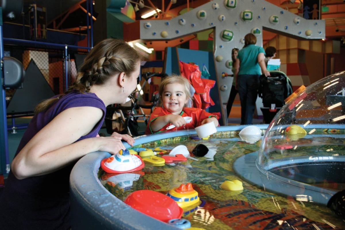Mom and Daughter Playing at Mid-Michigan Children's Museum in Saginaw