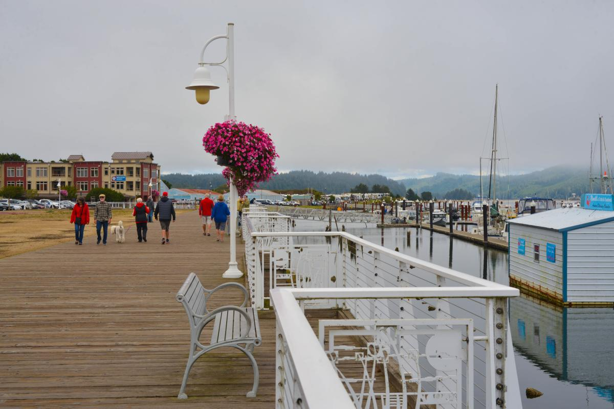 Florence Riverfront Boardwalk by Melanie Griffin