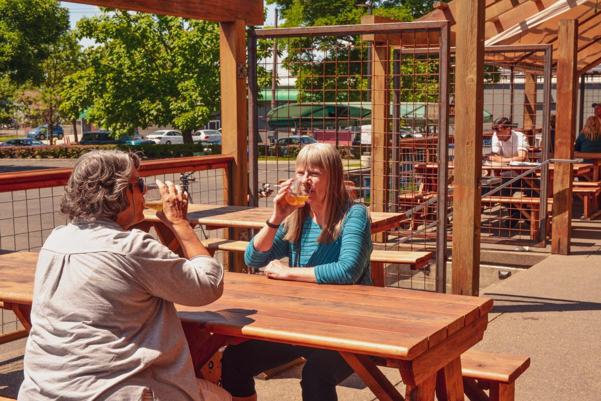 Wildcraft Cider Works patio by Melanie Griffin