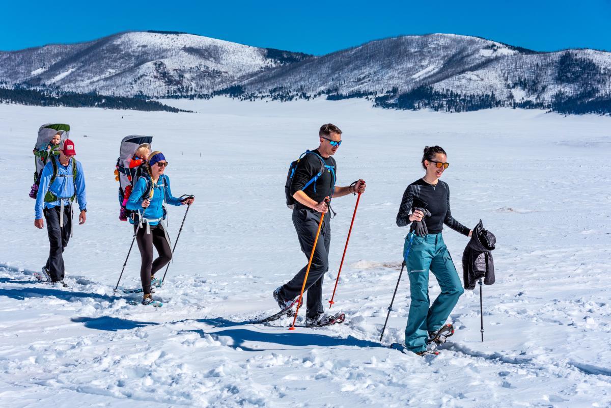 Snowshoeing in Los Alamos