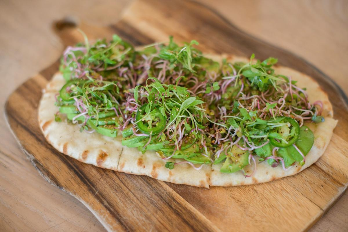 Avocado Flatbread from Juniper Table Palm Springs