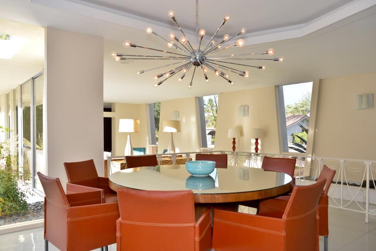 midcentury dining room palm springs