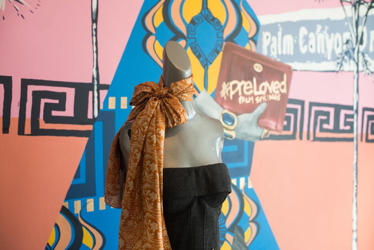 Silk scarf detail at Pre-loved Palm Springs