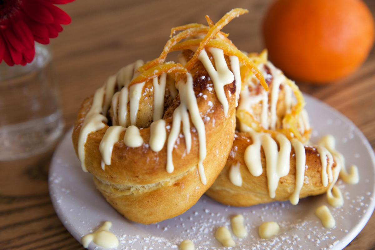 Don't miss the orange rolls at Tradition