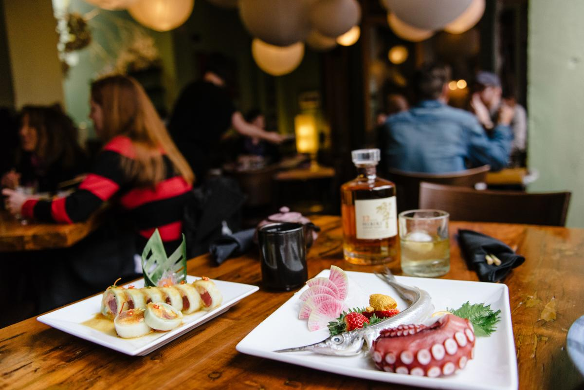 Check out the best sushi in town at Takashi before catching a show