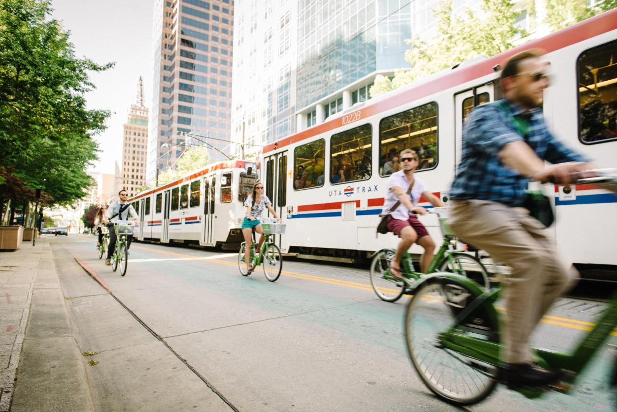TRAX, GREENbike, your transportation options are endless in Salt Lake