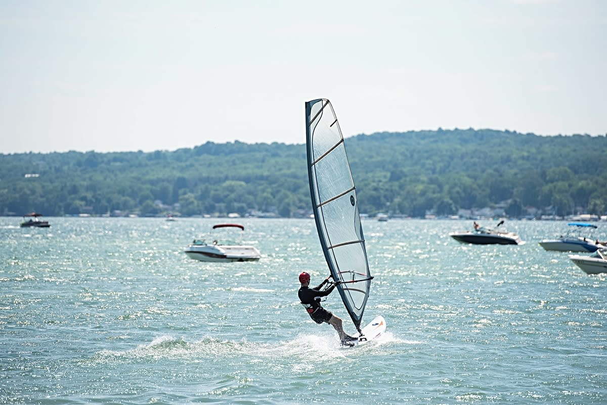 Windsurfing at Canandaigua Sailboarding
