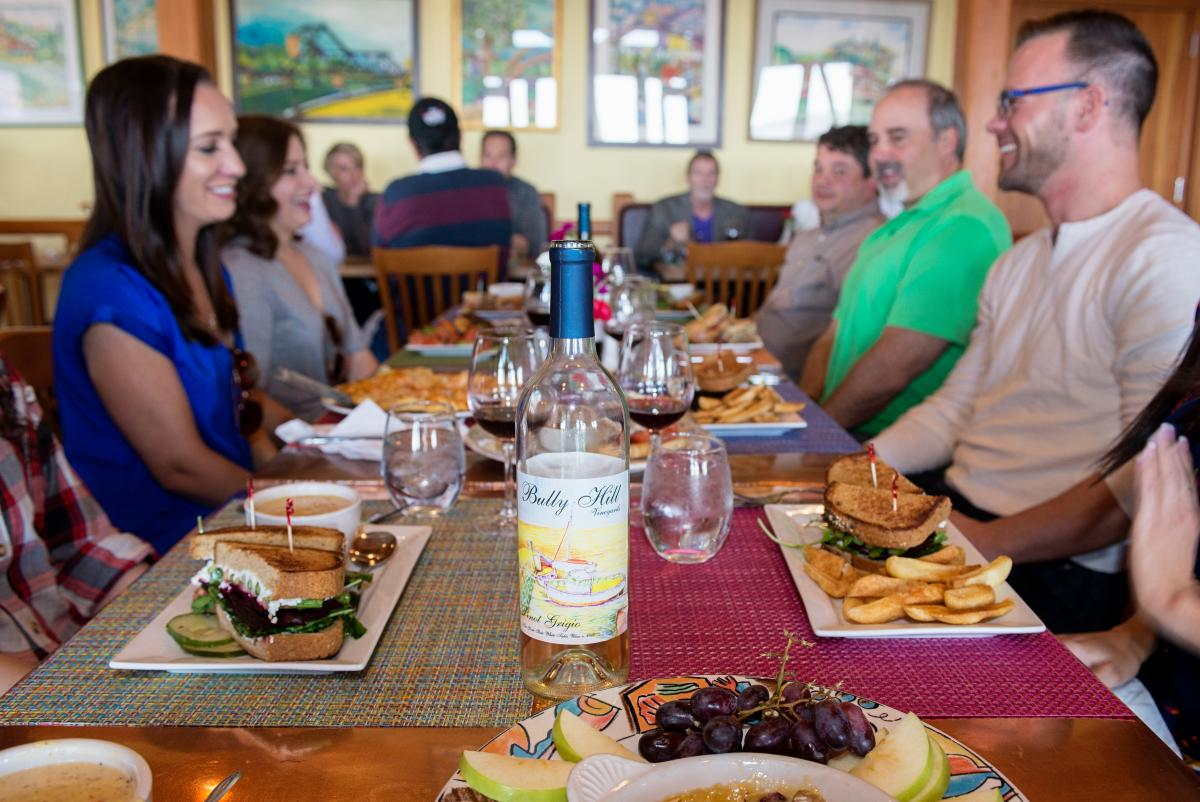 Bully Hill Lunch 6298 courtesy Corning and the Southern Finger Lakes