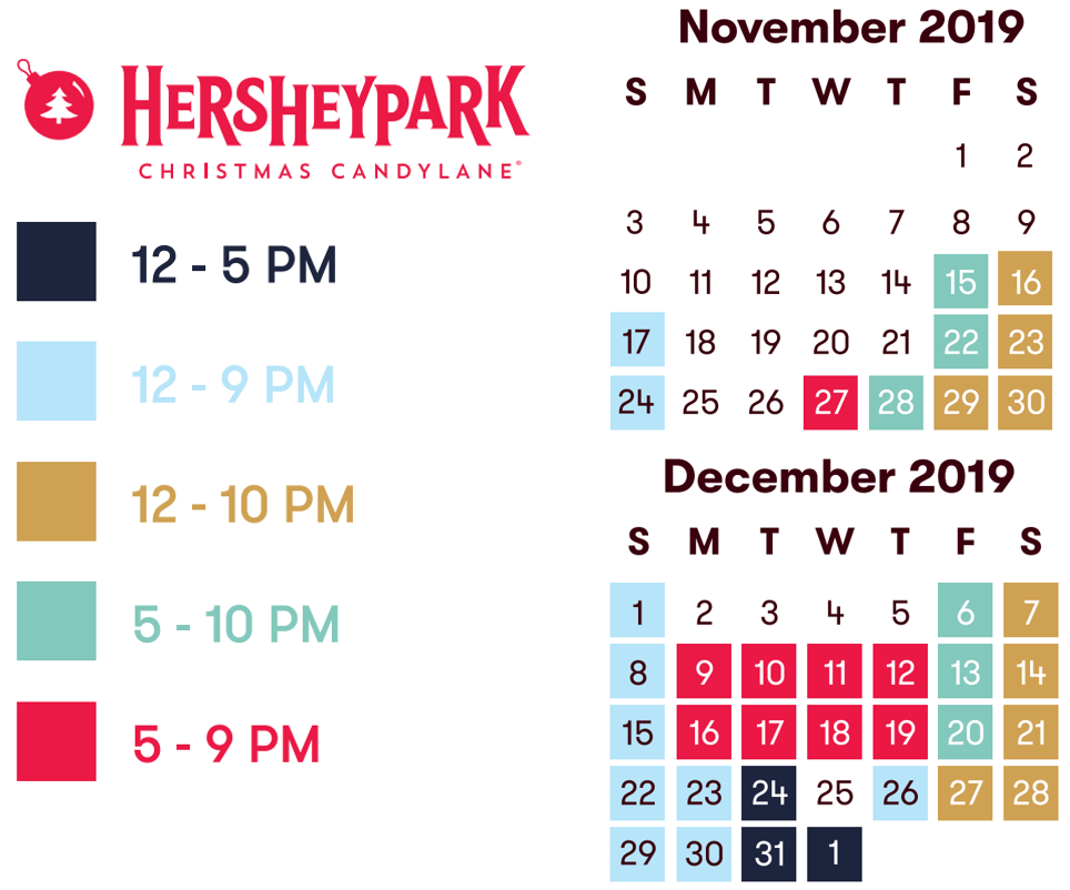 Hersheypark holiday hours