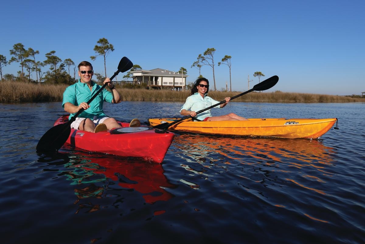 Kayaking at Big Lagoon State Park