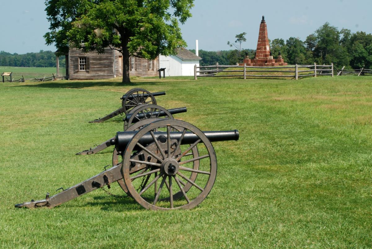 Cannons in a field