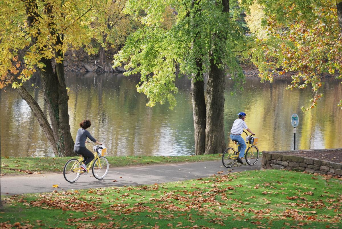 Schuylkill River Trail Biking in Fall