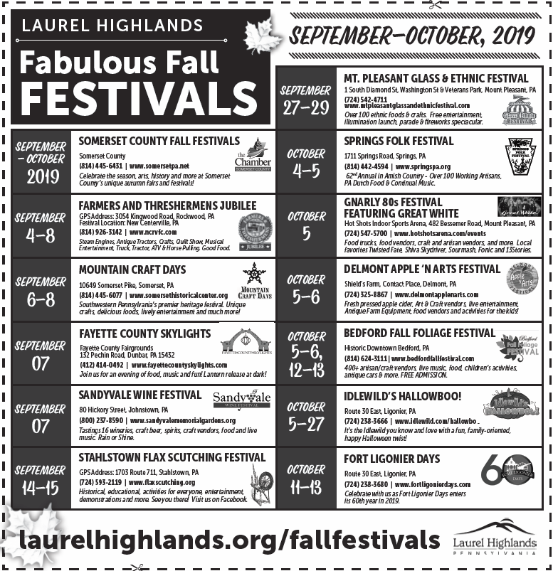 Fall Festivals 2019 Ad