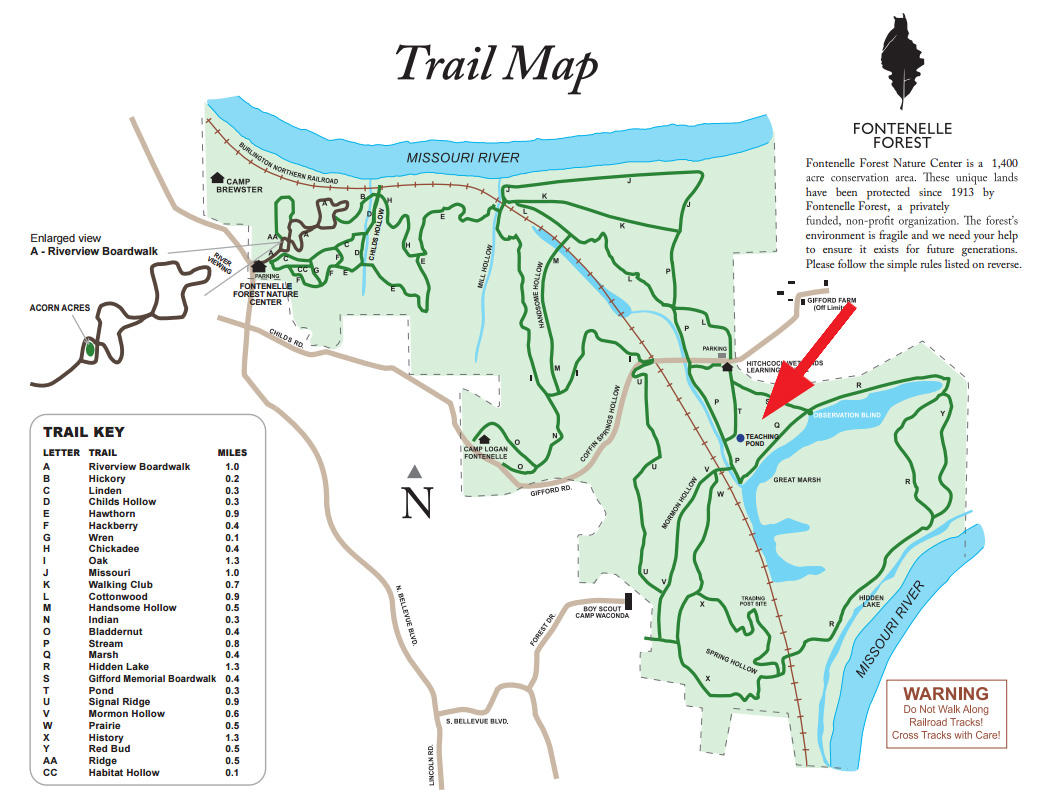 Fontenelle Forest trail map