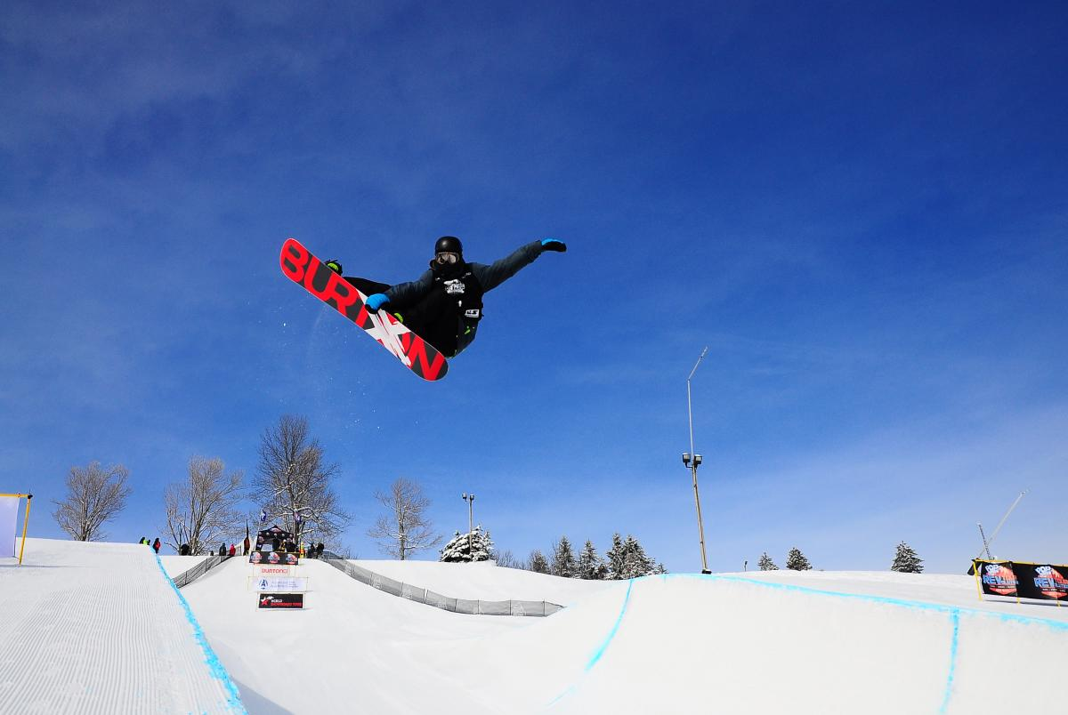 Seven Springs Half Pipe Boarder