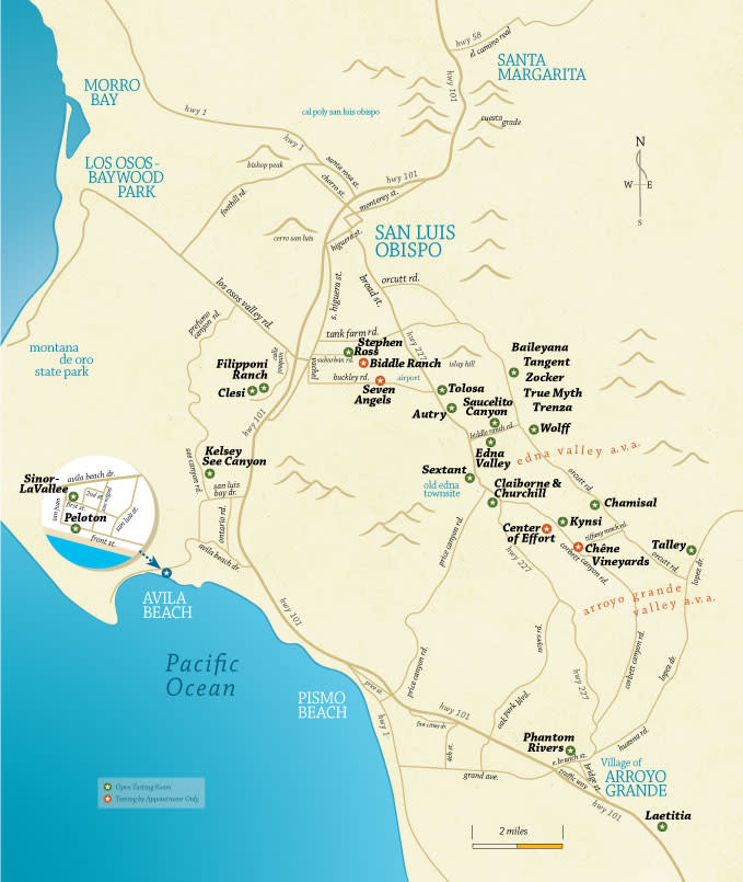 SLO Wine Map