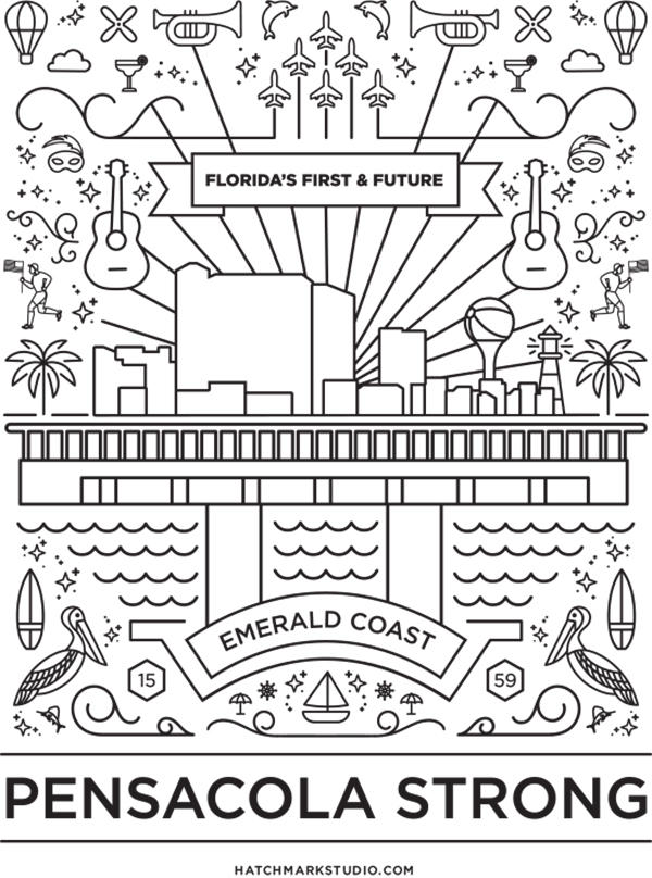 Pensacola Strong Coloring Sheet