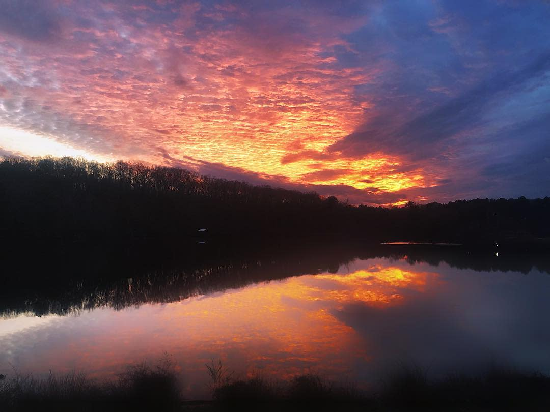 Sunset at Lake Herrick