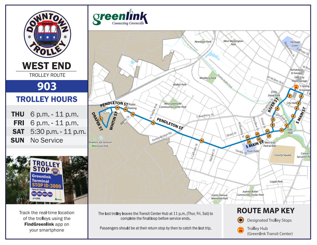 West End Trolley Route 903 - Screenshot