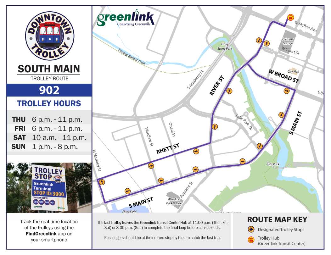 South Main Trolley Route 902 - Screenshot