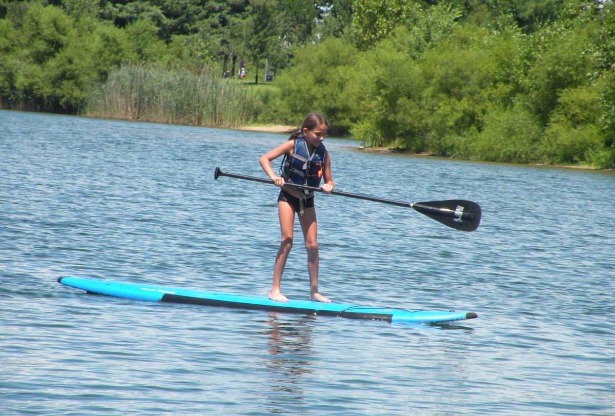 Paddle Boarding at Falls Lake